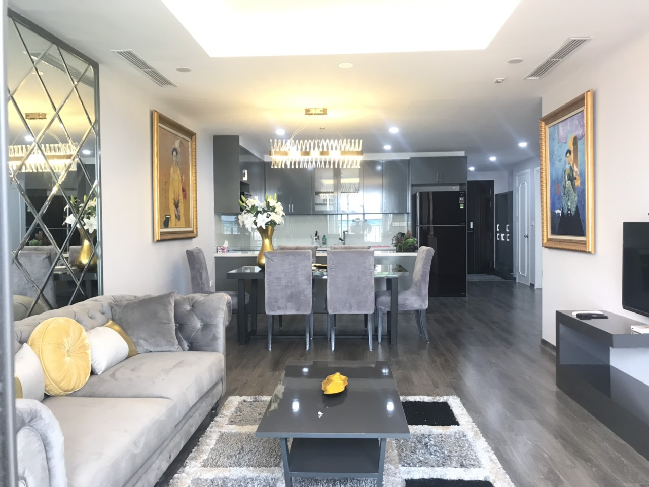 Brand new apartment for rent in DLeroisolei, Xuan Dieu street, Tay Ho district, Ha Noi
